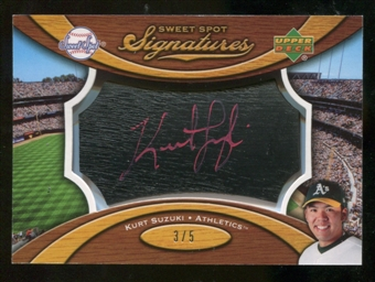 2007 Upper Deck Sweet Spot Signatures Black Bat Barrel Red Ink #KS Kurt Suzuki /5