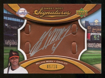 2007 Upper Deck Sweet Spot Signatures Glove Leather Silver Ink #MM Melvin Mora /10