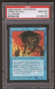 Magic the Gathering Alliances Single Force of Will PSA 10