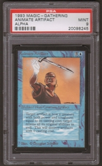 Magic the Gathering Alpha Single Animate Artifact PSA 9