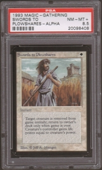 Magic the Gathering Alpha Single Swords to Plowshares PSA 8.5
