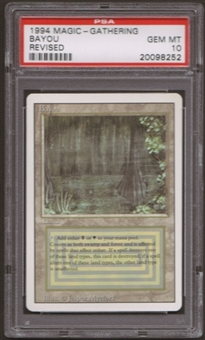 Magic the Gathering 3rd Ed (Revised) Single Bayou PSA 10