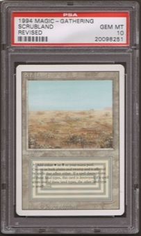 Magic the Gathering 3rd Ed (Revised) Single Scrubland PSA 10