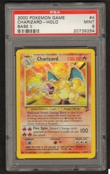 Pokemon Base Set 2 Single Charizard 4/130 - PSA 9