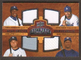 2008 Upper Deck Ballpark Collection #228 Curtis Granderson/Rafael Furcal/Derek Jeter/Rickie Weeks