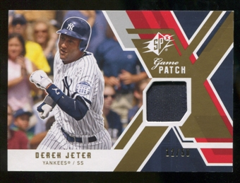 2009 Upper Deck SPx Game Patch #GJDJ Derek Jeter /50