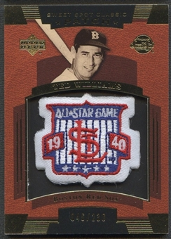 2004 Sweet Spot Classic Patch 230 #TW Ted Williams 40 All Star Patch #046/230