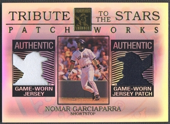 2003 Topps Tribute Contemporary #NG Nomar Garciaparra Tribute to the Stars Patchworks Dual Jersey Patch #09/50