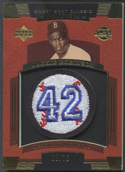 2004 Sweet Spot Classic Patch #JR Jackie Robinson #42 Patch #08/75