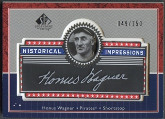 2003 SP Legendary Cuts #HW Honus Wagner Historical Impressions Silver #049/250