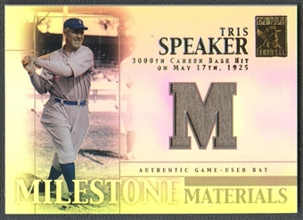 2002 Topps Tribute #TSP Tris Speaker Milestone Materials Bat