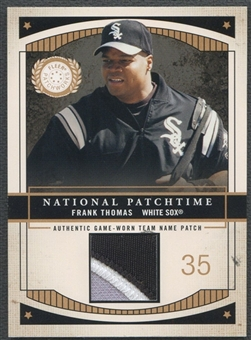 2003 Fleer Patchworks #FT Frank Thomas Game-Worn Patch #006/100