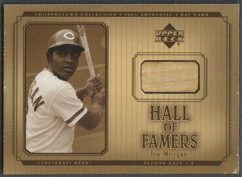 2001 Upper Deck Hall of Famers #BJMO Joe Morgan Game Bat