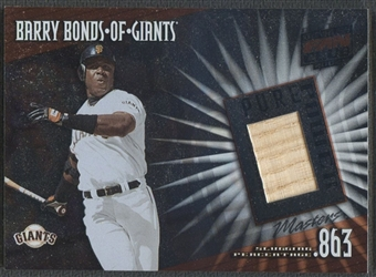 2002 Donruss Best of Fan Club #PP5 Barry Bonds Pure Power Masters Game Bat /150