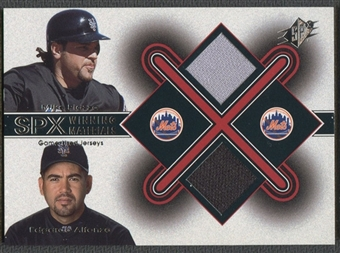 2001 SPx #MPEA Mike Piazza & E.Alfonzo Winning Materials Update Duos Jersey