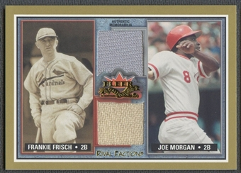 2002 Fleer Fall Classics #8 Frankie Frisch & Joe Morgan Rival Factions Game Used Dual Pants