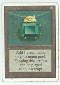 Magic the Gathering Unlimited Single Mox Emerald - HEAVY PLAY (HP)