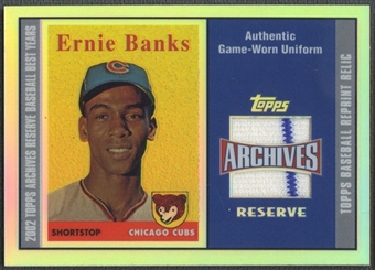 2002 Topps Archives Reserve #EB Ernie Banks Uniform Relics Jersey