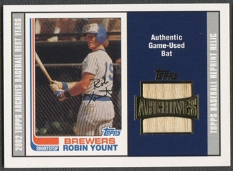 2002 Topps Archives #TBRRY Robin Yount Relics Bat