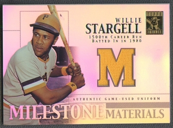 2002 Topps Tribute #WS Willie Stargell Milestone Materials Jersey