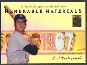 2002 Topps Tribute #CY Carl Yastrzemski Memorable Materials Jersey
