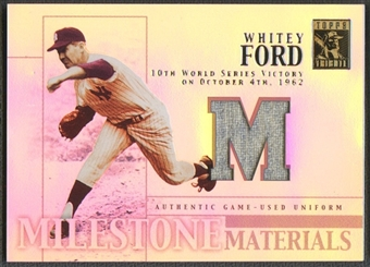 2002 Topps Tribute #WF Whitey Ford Milestone Materials Jersey