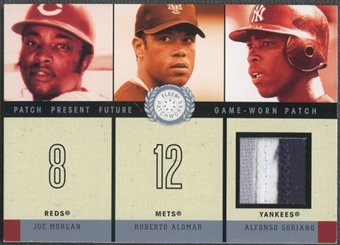 2003 Fleer Patchworks #AS2 Alfonso Soriano Present Future Patch #118/200