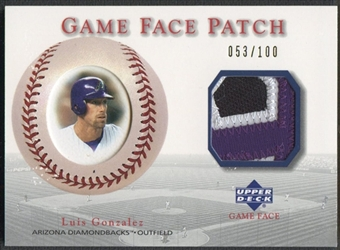 2003 Upper Deck Game Face #LG2 Luis Gonzalez Patch #053/100