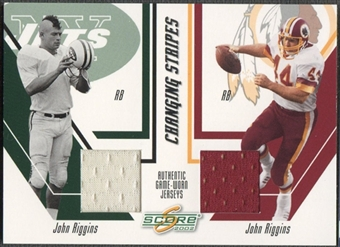 2002 Score #7 John Riggins Changing Stripes Jersey #035/150