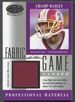 2001 Leaf Certified Materials #114CR Champ Bailey Fabric of the Game #040/123