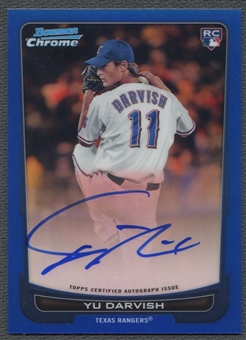 2012 Bowman Chrome #209 Yu Darvish Rookie Blue Refractor Auto #243/250
