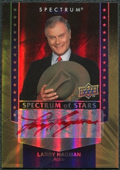 2008 Upper Deck Spectrum Spectrum of Stars Signatures #LH Larry Hagman Autograph