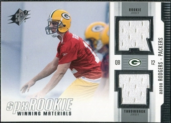 2005 Upper Deck SPx Rookie Winning Materials #RWMAR Aaron Rodgers SP