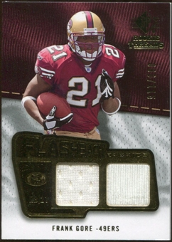 2008 Upper Deck SP Rookie Threads Flashback Fabrics 99-115 #FFFG Frank Gore /115