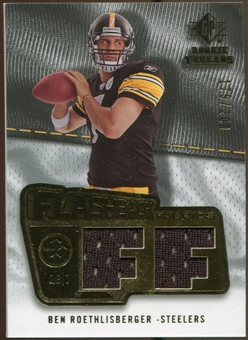 2008 Upper Deck SP Rookie Threads Flashback Fabrics #FFBR Ben Roethlisberger /200