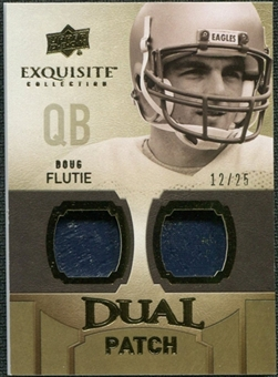 2010 Upper Deck Exquisite Collection Single Player Dual Patch #EDPDF Doug Flutie /25