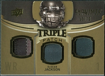 2010 Upper Deck Exquisite Collection Single Player Triple Patch #ETPDJ DeSean Jackson /75