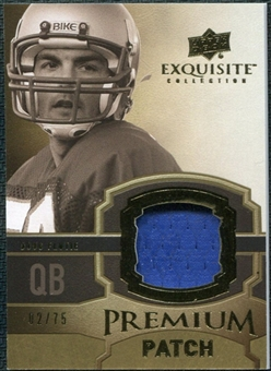 2010 Upper Deck Exquisite Collection Premium Patch #EPPDF Doug Flutie /75
