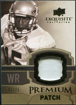 2010 Upper Deck Exquisite Collection Premium Patch #EPPGJ Greg Jennings /75