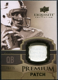 2010 Upper Deck Exquisite Collection Premium Patch #EPPJK Jim Kelly /75