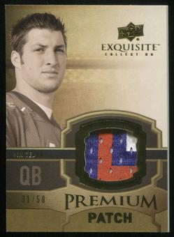 2010 Upper Deck Exquisite Collection Premium Patch #EPPTT Tim Tebow 31/50