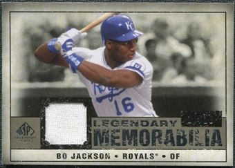 2008 Upper Deck SP Legendary Cuts Legendary Memorabilia Taupe Parallel #BJ Bo Jackson /10