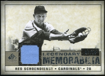 2008 Upper Deck SP Legendary Cuts Legendary Memorabilia Taupe #SC Red Schoendienst 7/10