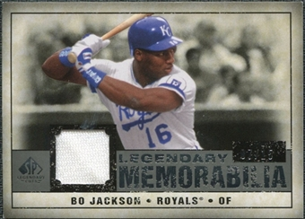 2008 Upper Deck SP Legendary Cuts Legendary Memorabilia Gray Parallel #BJ Bo Jackson /15