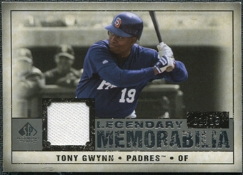 2008 Upper Deck SP Legendary Cuts Legendary Memorabilia Gray Parallel #TG Tony Gwynn 1/15