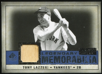 2008 Upper Deck SP Legendary Cuts Legendary Memorabilia Dark Blue #TL Tony Lazzeri 15/15
