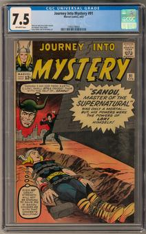 Journey Into Mystery #91 CGC 7.5 (OW) *1393218003*