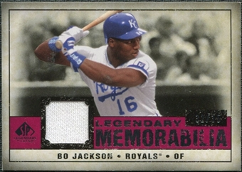 2008 Upper Deck SP Legendary Cuts Legendary Memorabilia Red #BJ Bo Jackson /35