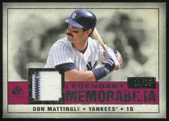2008 Upper Deck SP Legendary Cuts Legendary Memorabilia Red #DM2 Don Mattingly 21/35