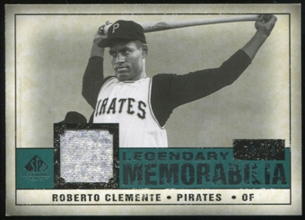 2008 Upper Deck SP Legendary Cuts Legendary Memorabilia Green #RC Roberto Clemente 70/99